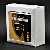 BOX OF 4 SETS OF STRINGS - DINGWALL NICKEL PLATED STEEL MEDIUM-SCALE 5 STRING SET  .045